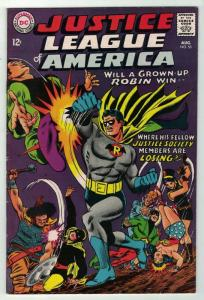 JUSTICE LEAGUE OF AMERICA  55 VG-F Aug. 1967 COMICS BOOK