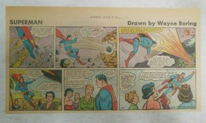 Superman Sunday Page #1130 by Wayne Boring from 6/11/1961 Size ~7.5 x 15 inches