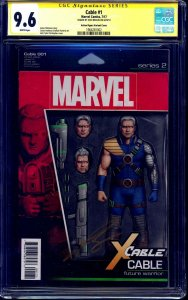 Cable #1 ACTION FIGURE VARIANT CGC SS 9.6 signed Josh Brolin ACTOR THANOS CABLE