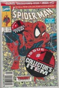 Spider-Man Bagged A #1 (Aug-90) NM/MT Super-High-Grade Spider-Man