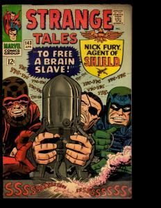 Strange Tales # 143 VG/FN Marvel Comic Book Nick Fury & Dr. Strange Avengers NE3