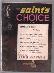 Saint's Choice Of Hollywood Crime #1 1946-1st issue-Frank Gruber-Oliver Quade-VG