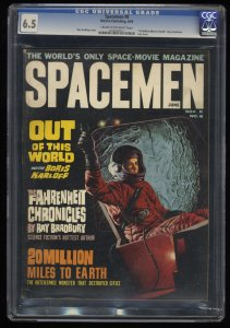 Spacemen #8 CGC FN+ 6.5 Ray Bradbury!