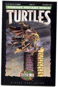 TEENAGE MUTANT NINJA TURTLES #54-1992-later issue-CITY AT WAR!