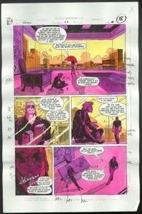 ROBIN #4-1990 PRODUCTION ART-COLOR GUIDE PG 14-TOM KYLE VG