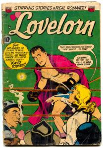 Lovelorn Comics #42 1953- Boxing cover- Golden Age Romance G/VG