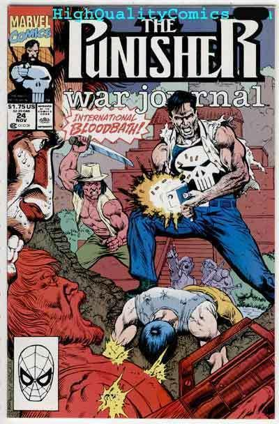 PUNISHER WAR JOURNAL #24, NM+, Carl Potts, Fire Power, Marvel, more PWJ in store