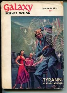 Galaxy Science Fiction #4 1/1951-sci-fi pulp-MacDonald-Asimov-Sturgeon-VG MINUS