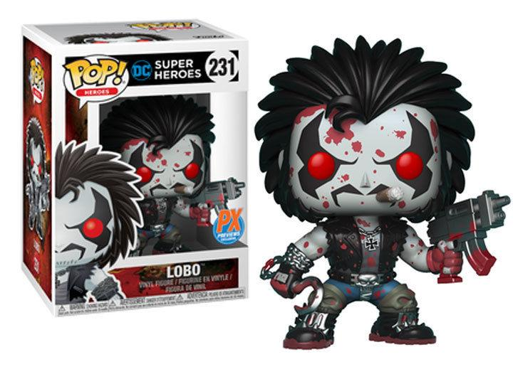 Funko POP Heroes Lobo PX Vinyl Figure Bloody Version - New!