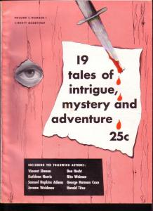 19 TALES OF INTRIGUE MYSTERY AND ADVENTURE 1950 PULP #1 VF