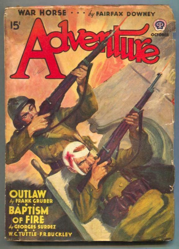 Adventure Pulp October 1940- War Horse- Baptism of Fire