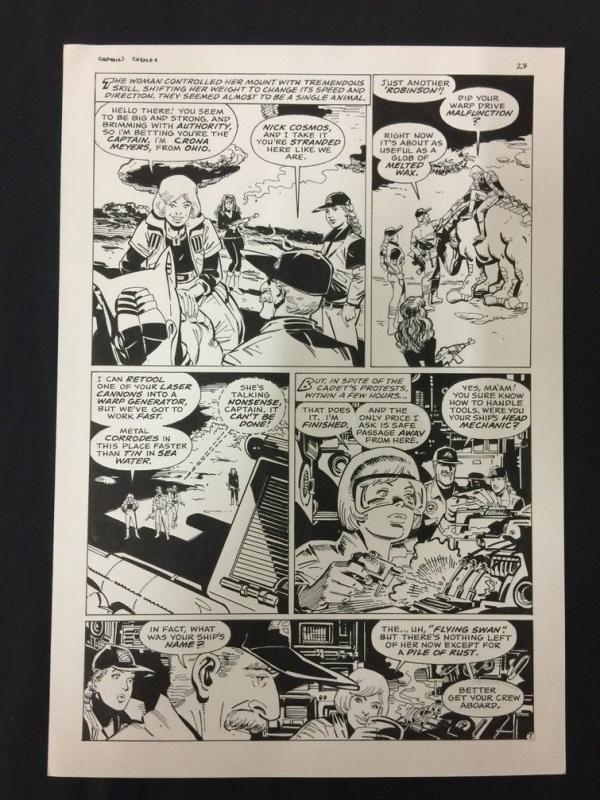 Captain Cosmos Page 27 Original Art Joe Stanton Nicola Cuti Space Opera
