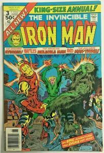 INVINCIBLE IRON MAN ANNUAL#3 FN/VF 1976 MARVEL BRONZE AGE COMICS
