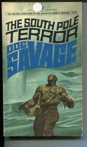 DOC SAVAGE-THE SOUTH POLE TERROR-#77-ROBESON-G-FRED PFEIFFER COVER-1ST E G/VG
