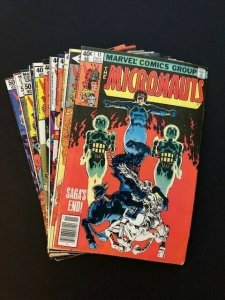 Lot of 12-Marvel THE MICRONAUTS 1979/80 #11-13,15,17-24  VG/F (A178)
