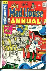 Mad House Annual #12 1974-Archie-robot-witchcraft-werewolf-mummy-FN-