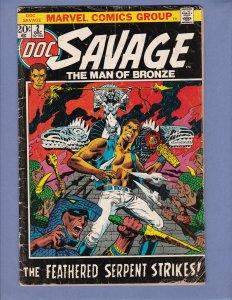 Doc Savage #2 GD/VG Jim Steranko Cover Marvel 1972