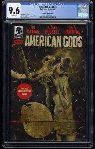 American Gods #1 CGC NM+ 9.6 White Pages McKean Variant Cover!