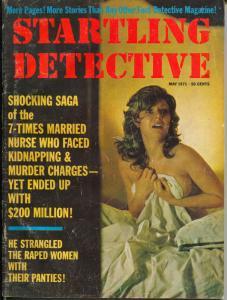 Startling Detective 5/1971-crime pulp-violence-terror cover-VG