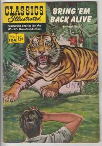 Classics Illustrated #104 (Feb-53) VG+ Affordable-Grade Frank Buck