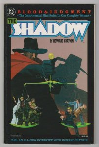 THE SHADOW - BLOOD & JUDGEMENT 1987 DC COMICS TRADE PAPERBACK 1ST PRINT