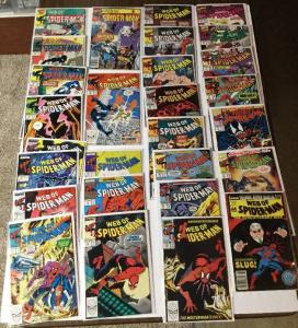 Web Of Spider-man  26-96 Lot 27 Issues Total 6.0-8.0 Fine - Very Fine