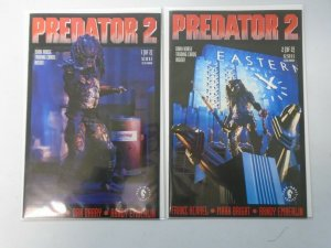 Predator 2 set #1+2 Movie adaptation 8.0 VF (1991 Dark Horse)