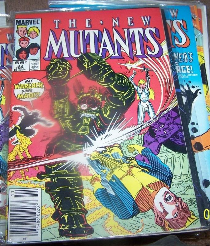 NEW MUTANTS  # 33  1985  marvel   XMEN  magik warlock karma