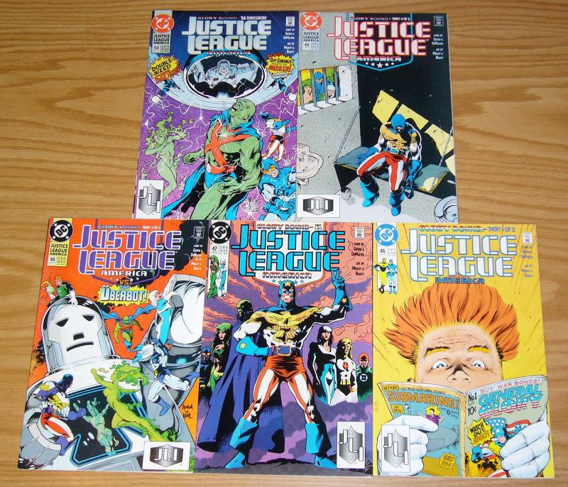 Justice League America: Glory Bound #1-5 VF/NM complete story - giffen/dematteis