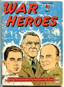 War Heroes #2 1942- General Stilwell and Jimmy Doolittle- WWII VG