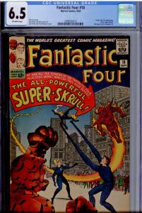 Fantastic Four #18 CGC 6.5 O/White pgs.  Origin and 1st app. of the Super Skrull