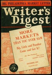 Writer's Digest December 1945- True Comics-Real Heroes-Calling All Boys G-