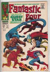 Fantastic Four #73 (Apr-68) VF+ High-Grade Fantastic Four, Mr. Fantastic (Ree...