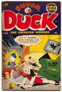 Super Duck #51 1953- Golden Age Archie Funny Animals- VG
