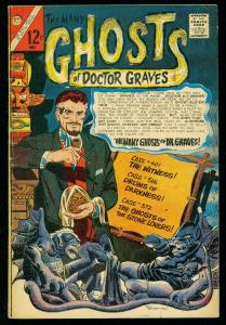 THE MANY GHOSTS OF DOCTOR GRAVES #1 1967-CHARLTON COMICS-DITKO ART- FN-