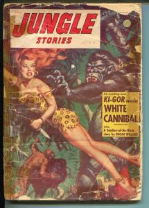 Jungle Stories-Spring 1954-Fiction House-Sheena cover & story-P/FR