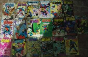 POWER OF THE ATOM 1-18 DC COMICS 1988  COMPLETE SET RAY PALMER LEGENDS+ SWORD #1
