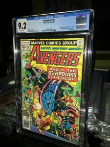 AVENGERS #167 KORVAC SAGA begins 1978 GUARDIANS OF THE GALAXY Perez CGC NM- 9.2