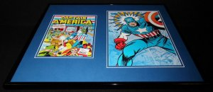 Captain America #1 Framed 16x20 Official Repro Cover Poster Display