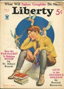 Liberty 9/15/1934-Harry F Rudd fantasy cover-pulp fiction-Flagg interior art-...