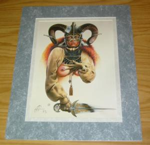 Chris Achilleos' Amazons Print: Celtic Queen - signed bad girl art