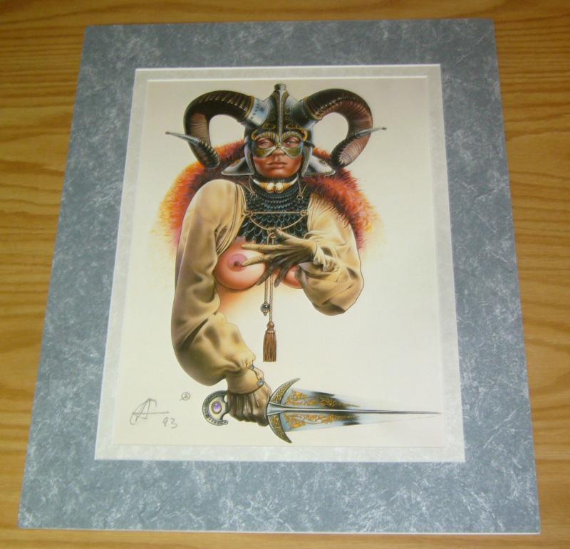 Chris Achilleos' Amazons Print: Celtic Queen - signed bad girl art