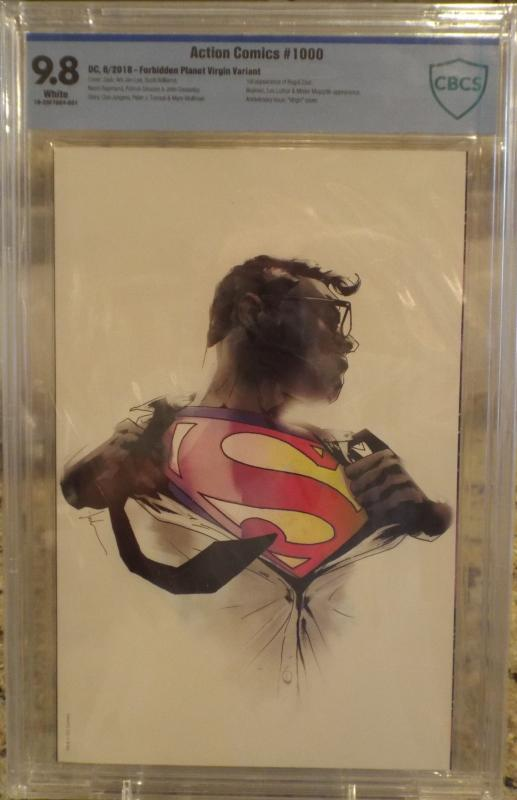Action Comics #1000 CBCS 9.8, Forbidden Planet Virgin Variant