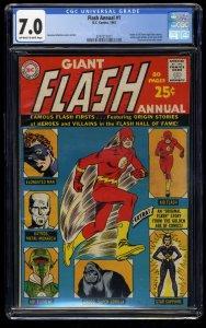 Flash Annual #1 CGC FN/VF 7.0 Origin of Elongated Man and Kid Flash!