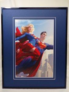 Superman + Supergirl Framed 16x20 Poster Display DC Comics Artgerm