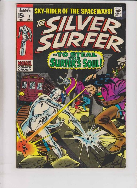 Silver Surfer #9 FN october 1969 - stan lee - john buscema - flying dutchman