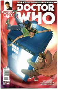 DOCTOR WHO #2 C, NM, 10th, Tardis, 2014, Titan, 1st, more DW in store, Sci-fi