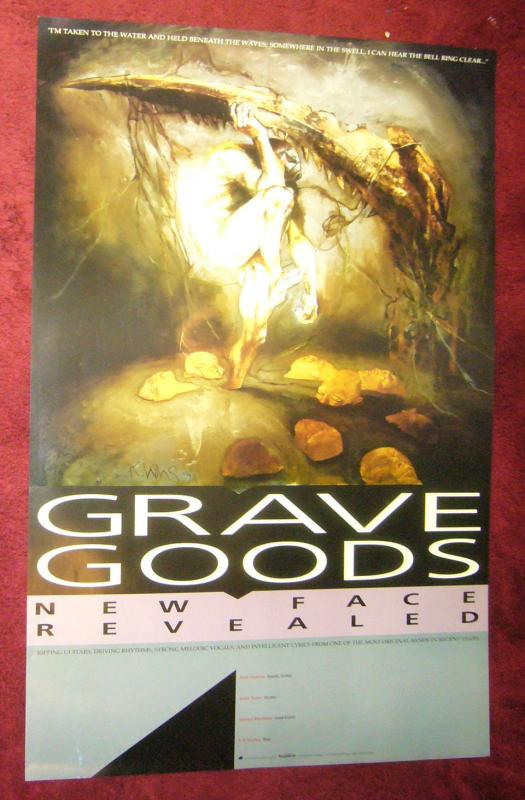 Grave Goods poster - 23 x 35 - kent williams - tundra 1992 new face revealed
