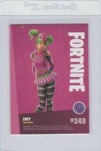 Fortnite Zoey 249 Epic Outfit Panini 2019 trading card series 1