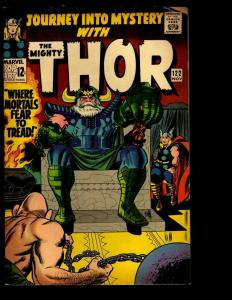 Journey Into Mystery # 122 VG/FN Marvel Comic Book Thor Loki Odin Avengers NE3